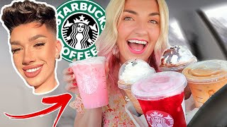 TRYING FAMOUS YOUTUBERS STARBUCKS DRINKS