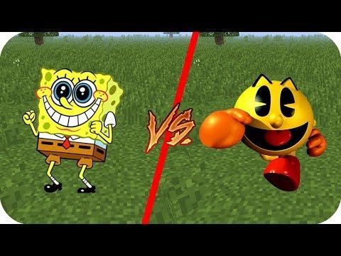 Casa Bob Esponja vs Casa Pac Man - Minecraft juegos gratis pe