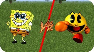 Video Casa Bob Esponja vs Casa Pac Man - Minecraft juegos gratis pe download MP3, 3GP, MP4, WEBM, AVI, FLV Agustus 2018
