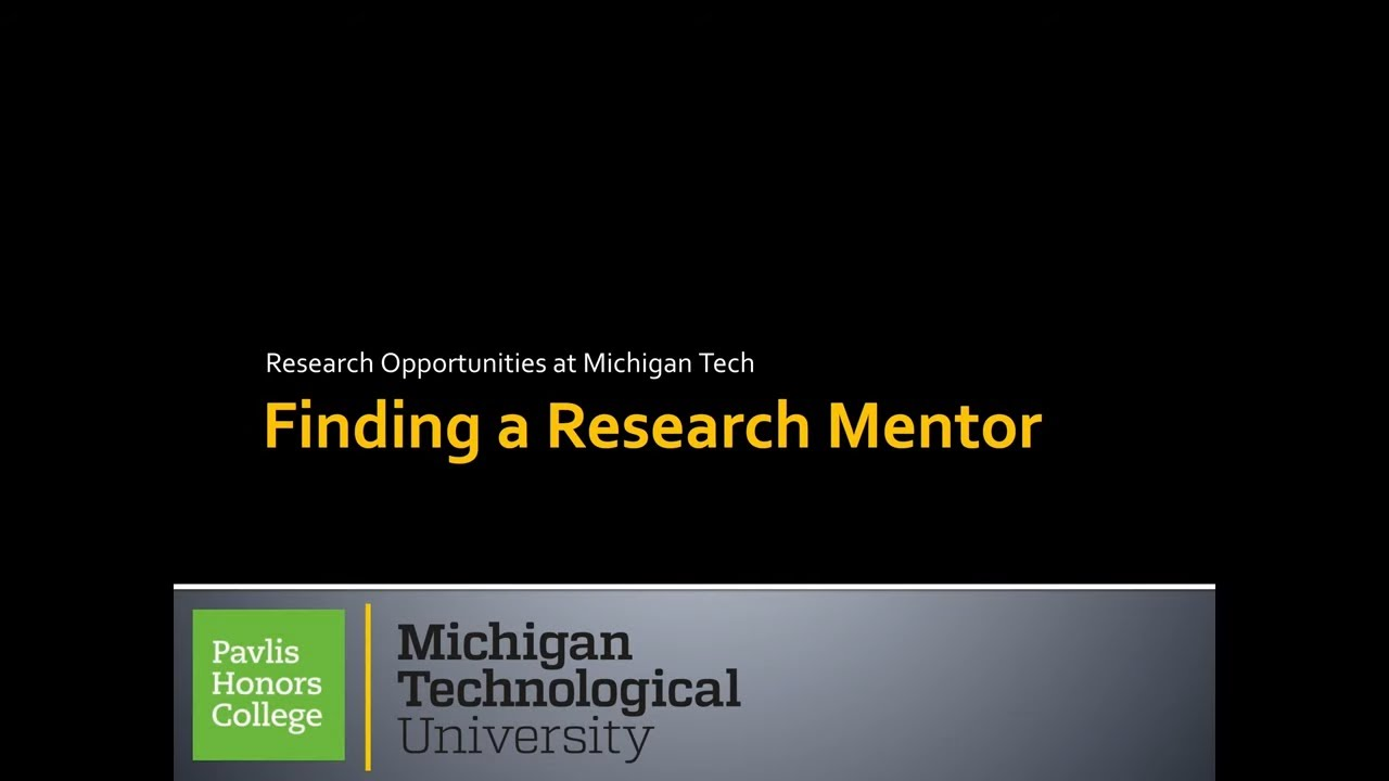 Preview image for Finding A Research Mentor video