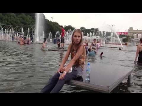 парк горького после грозы в фонтане
