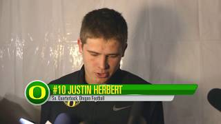 Justin Herbert talks Post Game Vegas Bowl thumbnail