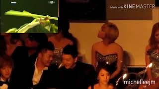 Super junior ft. SNSD reaction to Miss A Goodbye baby  ( MAMA 2011 SINGAPORE)