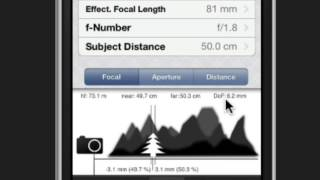 PhotoBuddy - Depth of Field calculator app