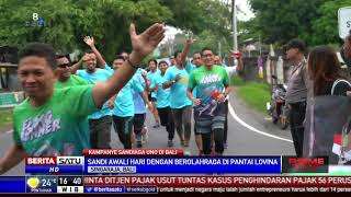 Sandiaga Uno Salami Pendukung Jokowi di Bali