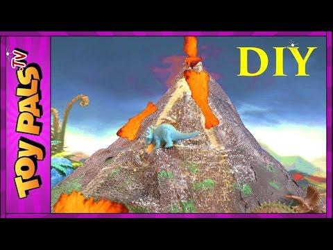 how to make volcano slime