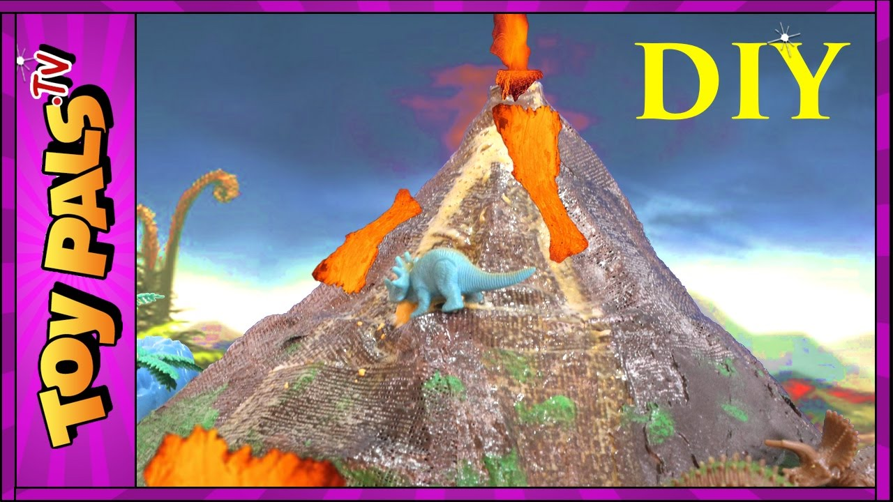 diy volcano eruption with lava quotmaking dinosaur volcano