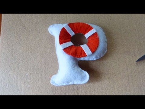 How To Make Felt Letter In A Marine Style - DIY Crafts Tutorial - Guidecentral