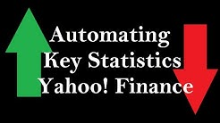 How to automate Key Statistics from Yahoo! Finance