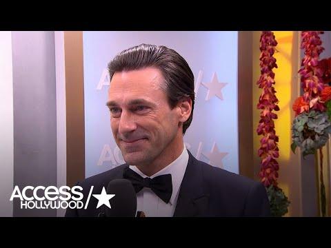 Jon Hamm Reacts To Golden Globes Win, Chumbawamba Joke Falling Flat   Access Hollywood