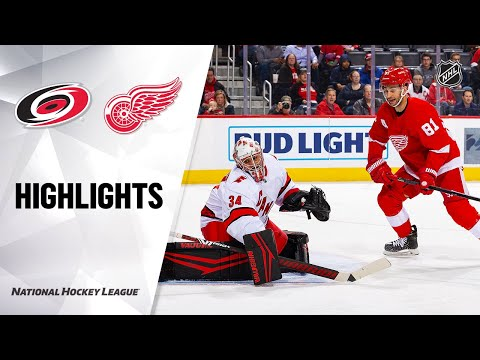 NHL Highlights | Hurricanes @ Red Wings 3/10/20
