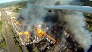 Huge Fire at Springfield Plywood and Veneer Plant