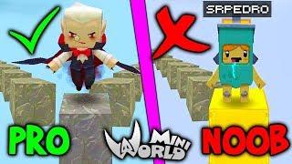 NOOB vs PRO NO PARKOUR - SRPEDRO DEU RAGE NO MINI WORLD !!