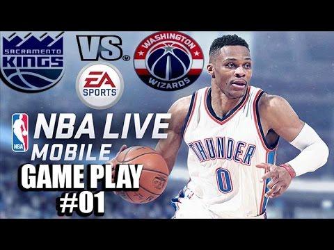 SACRAMENTO KINGS VS  WASHINGTON WIZARDS ( NBA LIVE MOBILE )