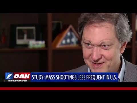Study: Mass shootings less frequent in U.S.