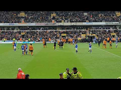 Wolverhampton Wanderers V Birmingham City - Full Time Whistle, Pitch Invaders and Wolves Celebration
