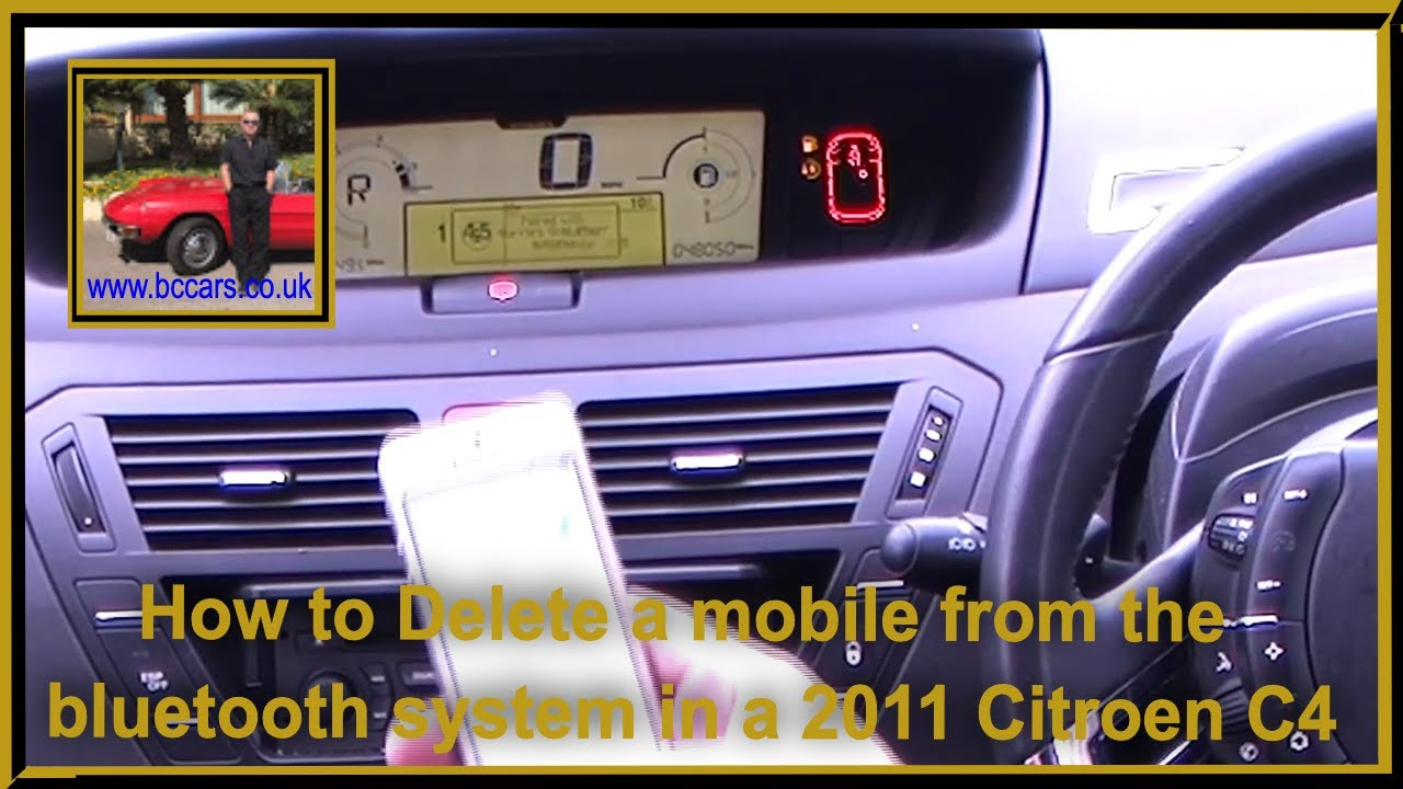 2011 Citroen C4 How to Debond or Unpair an iPhone from the bluetooth system  in a 2011 Citroen C4