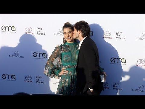 Nikki Reed and Ian Somerhalder EMA's 27th Annual Awards Gala Green Carpet