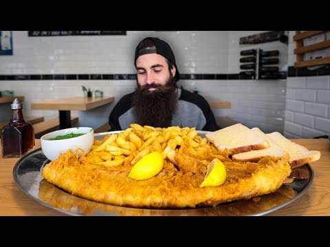 'THE WHALE' GIANT FISH N CHIPS CHALLENGE | The Chronicles Of Beard Ep.127