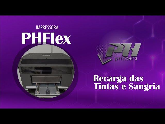 Recarga das Tintas e Sangria do Sistema de Bulk Ink - Impressora UV LED PH Flex