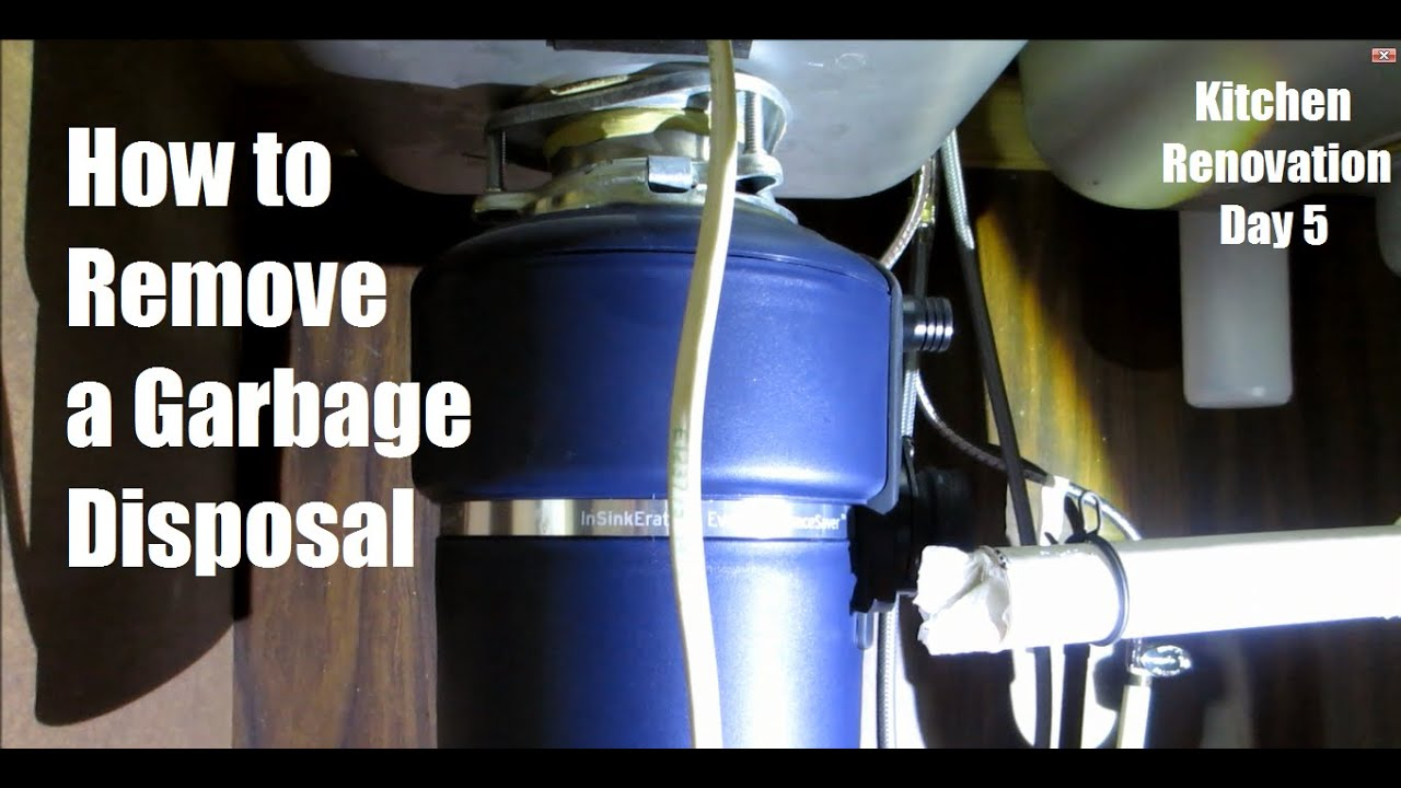 How To Remove A Garbage Disposal And Under Sink Plumbing   Day 5 | DIY  Distress