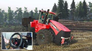 farming spin tires case ih quadtrac 620 traktr karşınızda logitech dfgt