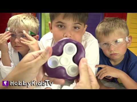 DIY Homemade ICE Fidget Spinner with HobbyKidsTV