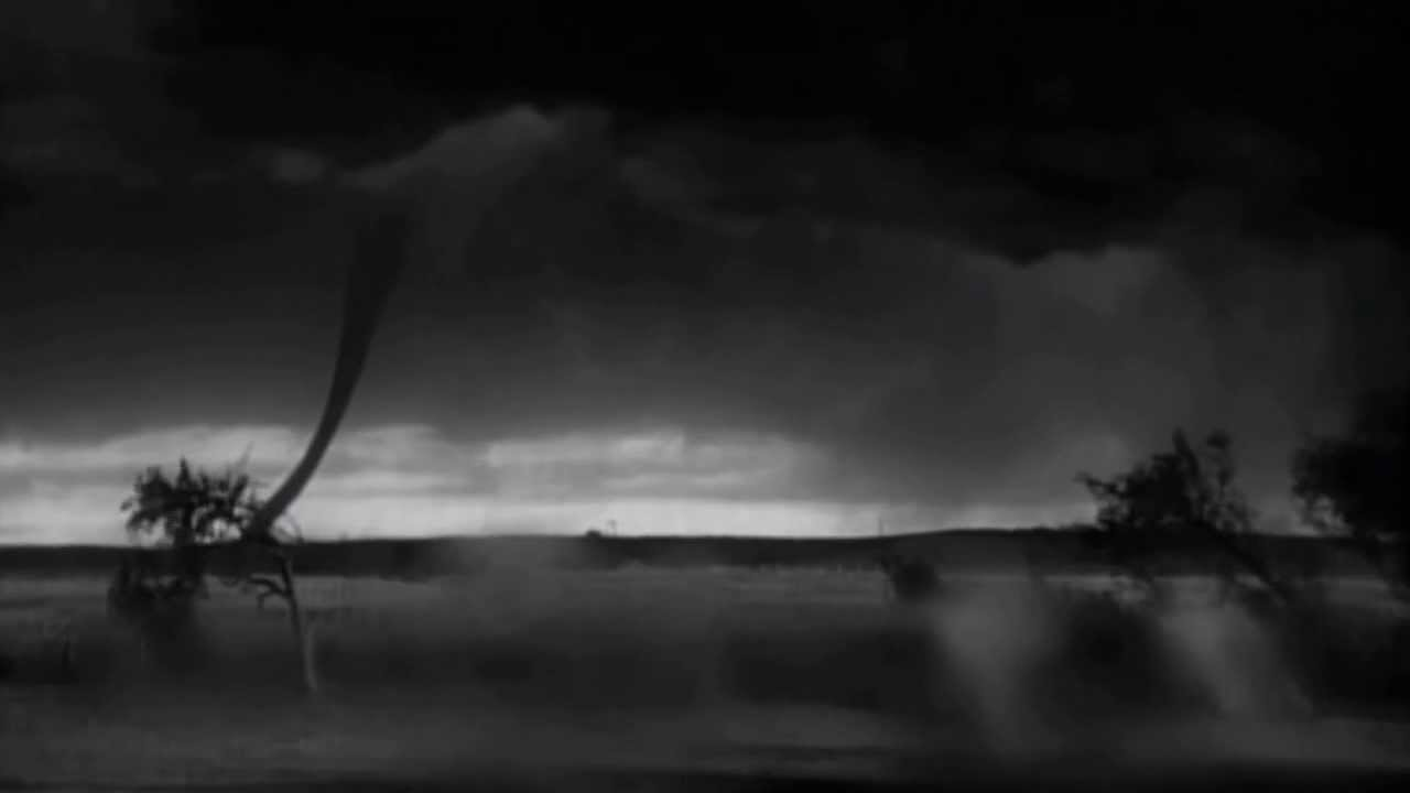 wizard of oz original test footage twister tornado in distance