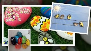 DIY Stone painting. Crafts to Make and Sell