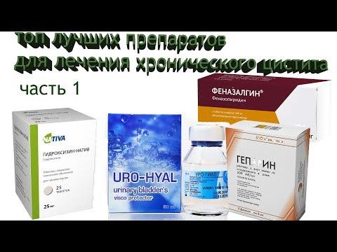 Топ эффективных препаратов для лечения хронического цистита/интерстициального цистита