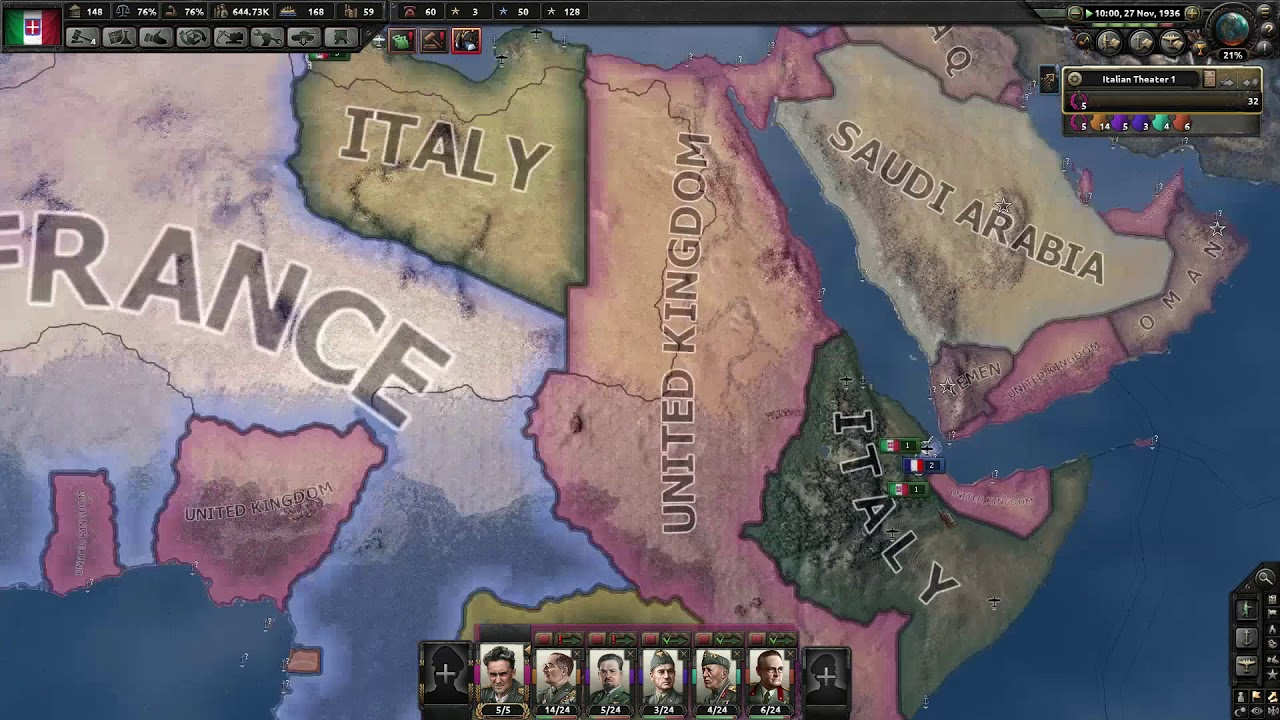 HOI4 - [Pre-Man The Guns] Taking France as Italy before the Allies intervene