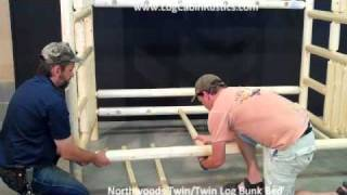 Assembling Log Furniture - Northwoods Twin/twin Log Bunk Bed