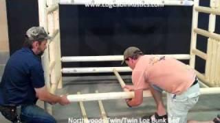 Assembling Log Furniture - Northwoods Twin/twin Log Bunk Bed