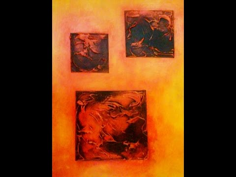 "Painting abstract art acrylic demo ""Gifts"" short time lapse"
