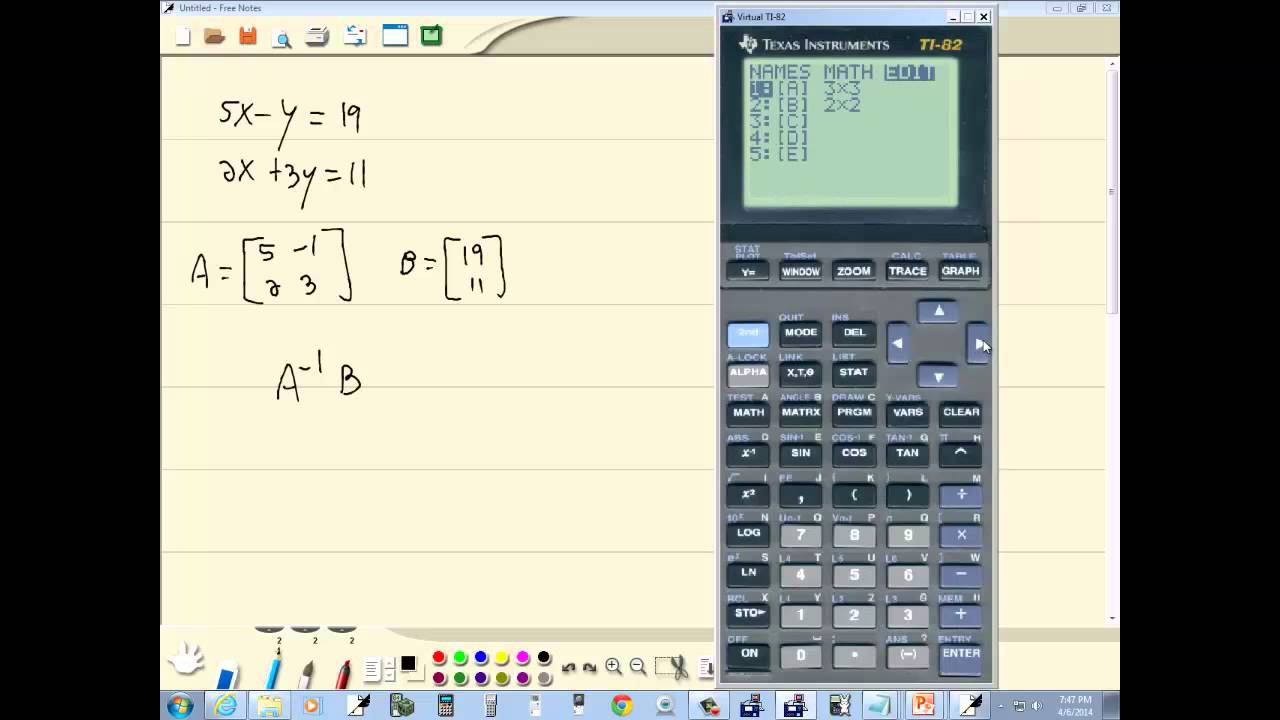 how to find inverse of a matrix on ti 84