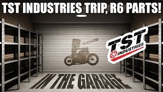 In The Garage + Trip to TST Industries! - Yamaha R6 Parts!