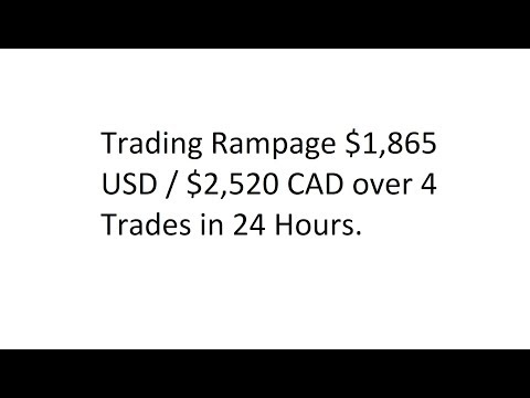 Trading Rampage $1,865 USD / $2,520 CAD - Getting My Groove Back