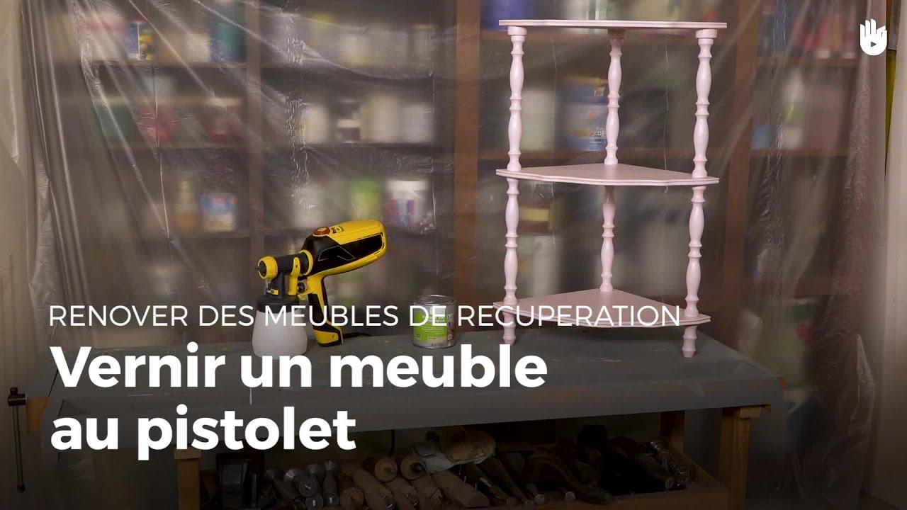 Vernir Un Meuble Au Pistolet  Rénovation De Meubles Youtube