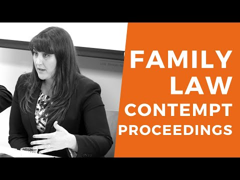 Litigating Family Law Contempt Proceedings: What You Need To Know - MCLE BY BHBA