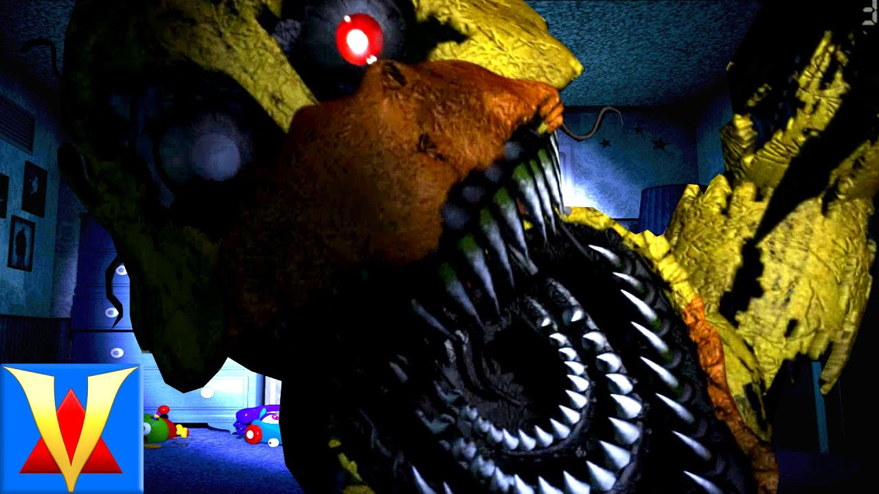 SCARIEST FNAF GAME EVER! - Five Nights At Freddy's 4 - Night 1 ...