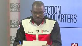 Provisional results from Shai Osudoku - Election Headquarters on Joy News (8-12-16)