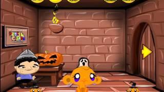 Счастливая обезьянка Хэллоуин прохождение  Monkey go happy Halloween walkthrough