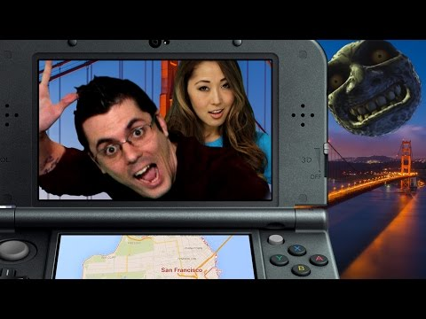 FIRST LOOK AT THE NEW 3DS XL!! (Smosh Games Field Trip)