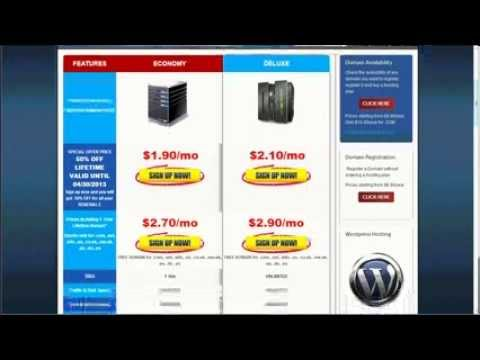 How to get Web Hosting and Domain Name for your web site in 3 minutes!