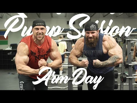Pump Session- Doug Miller And Seth Feroce Crush Arms!
