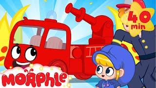 Firefighter Morphle   BRAND NEW   Fire Trucks for Kids   +Superhero Morphle   Cartoons for Kids
