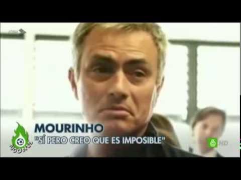 MOURINHO PILLADO hablando mal de Eto'o, Monaco, etc.