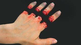Отрубленные пальцы! Грим - оптическая иллюзия(Привет-привет! Не пугайтесь! Это ненастоящие отрезанные пальцы, а всего лишь оптическая иллюзия! :) В этом..., 2016-05-10T08:00:01.000Z)