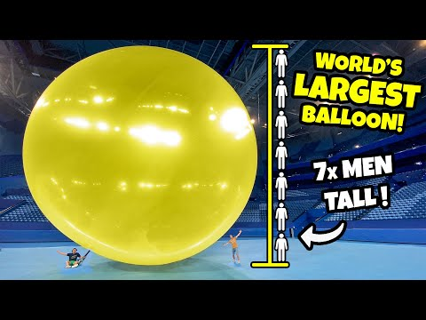 We Popped The WORLD'S LARGEST BALLOON! (40ft+)
