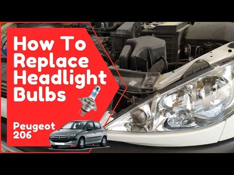 How To Replace the Headlight Bulbs (Peugeot 206)